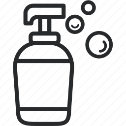 bottle, cleansing, essential, foam, shampoo icon