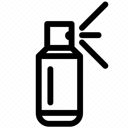bottles, cosmetic, deodorant, spray, spray can icon