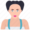 beautician, beauty care, cosmetologist, salon services, service provider icon