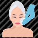 anti aging, botox treatment, cosmetic surgery, skin care, skin rejuvenation icon