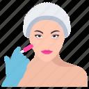 anti aging, botox injection, cosmetic surgery, skin care, skin rejuvenation icon