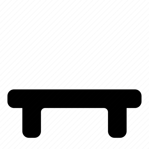 Bench, interior, furniture icon