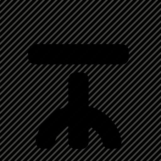 chair, furniture, interior, round icon