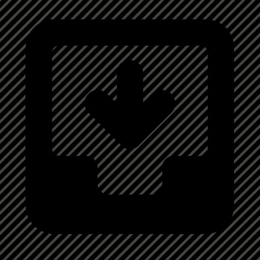 inbox, receive icon