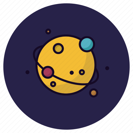 astronomy, cosmos, globe, planet, satellite, space, universe icon