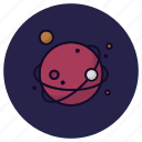 astronomy, cosmos, global, planet, satellite, space, universe icon