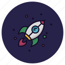 astronomy, launch, rocket, science, spacecraft, spaceship, transport icon
