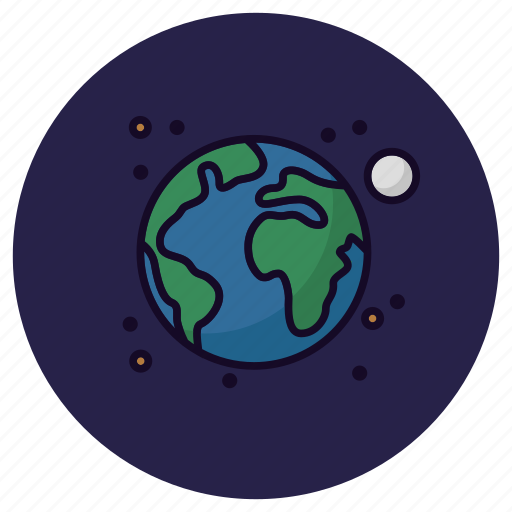 Earth, astronomy, globe, moon, planet, solar system, universe icon - Download on Iconfinder