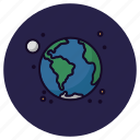 astronomy, earth, globe, moon, planet, solar system, universe icon