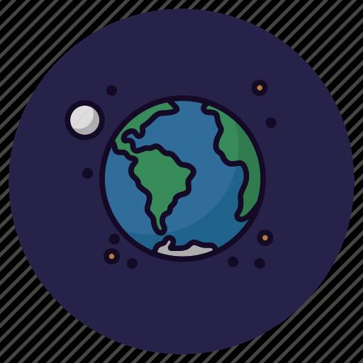 astronomy, earth, globe, moon, planet, solar system, universe icon