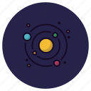 astronomy, orbit, planet, solar system, space, sun, universe icon