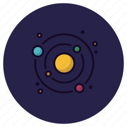 astronomy, orbit, planet, solar system, space, sun, universe icon