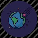 apocalypse, armageddon, asteroid, astronomy, earth, impact, meteorite icon