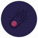 asteroid, astronomy, comet, galaxy, meteorite, planet, shooting star icon
