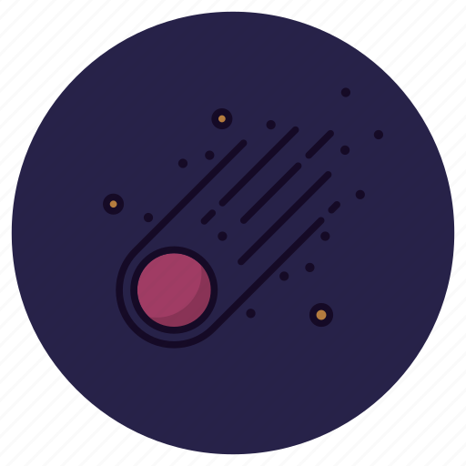 Comet, asteroid, astronomy, galaxy, meteorite, planet, shooting star icon - Download on Iconfinder