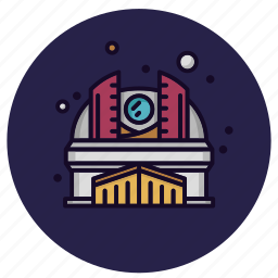 astronomy, observatory, planetarium, research, science, space, telescope icon