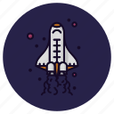 astronomy, launch, rocket, space, spacecraft, spaceship, spaceshuttle icon