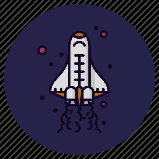 astronomy, launch, rocket, space, spacecraft, spaceship, spaceshuttle icon