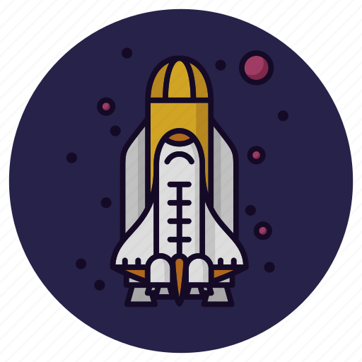 astronomy, launch, rocket, science, spacecraft, spaceship, spaceshuttle icon