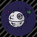 astronomy, death star, destroy, laser, movie, spaceship, star wars