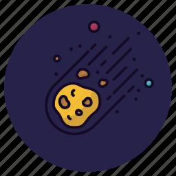 asteroid, astronomy, cosmos, meteorite, planet, satellite, space icon
