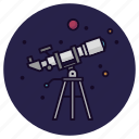 astronomy, planet, sky, stargazing, stars, telescope, view icon