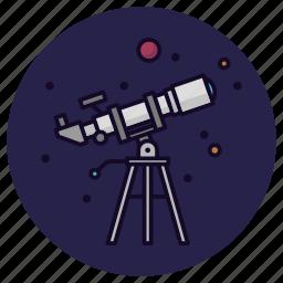 astronomy, planet, sky, stargazing, stars, telescope, view icon
