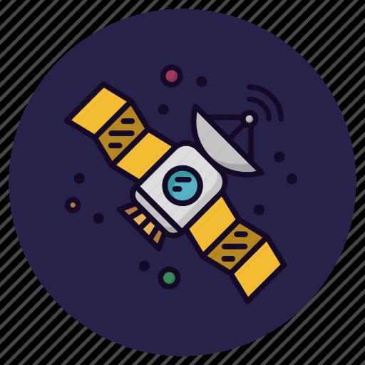 antenna, astronomy, rocket, satellite, signal, space, spaceship icon
