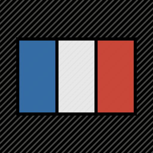 europe, flag, france, french, globe, la, world icon