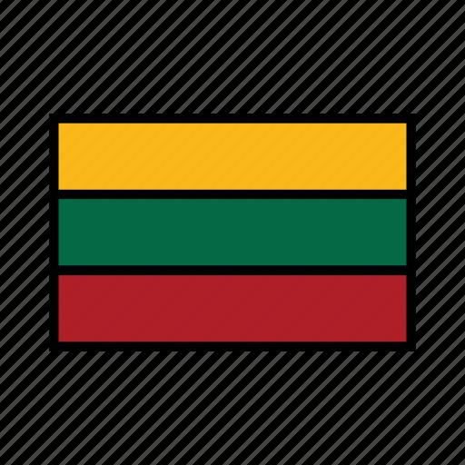 europe, flag, flags, globe, lithuania, lithuanian, world icon