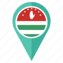 abkhazia, country, flag, location, national, navigation, pin icon