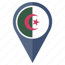 algeria, country, flag, location, nation, navigation icon