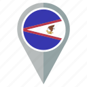 american, flag, samoa, country, direction, location icon