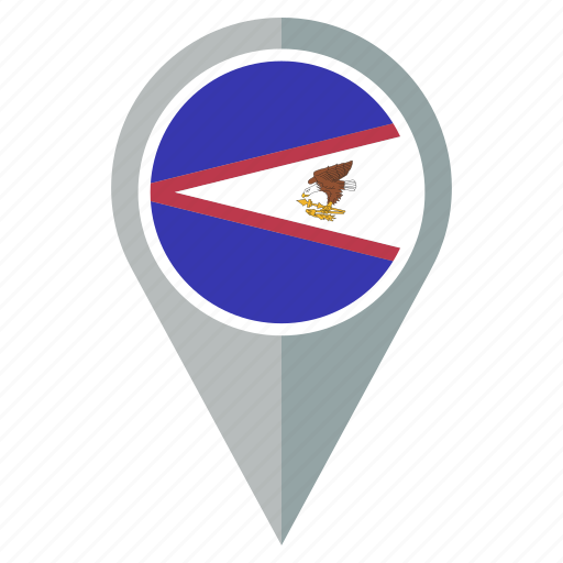 american, country, direction, flag, location, samoa icon