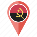 flag, angola, country, national, navigation, location, pin