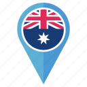 australia, country, flag, location, national, navigation icon