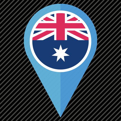 australia, country, flag, location, national, navigation icon