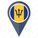 barbados, country, direction, flag, location, national, navigation icon
