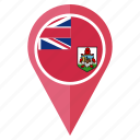 bermuda, country, flag, location, national, navigation, pin icon