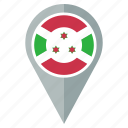 burundi, country, flag, location, nation, national, navigation icon