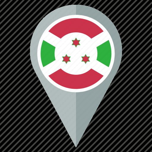 burundi, country, flag, location, nation, national, navigation icon