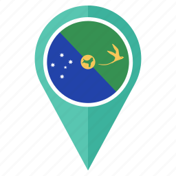 christmas island, country, flag, location, nation, navigation, pin icon