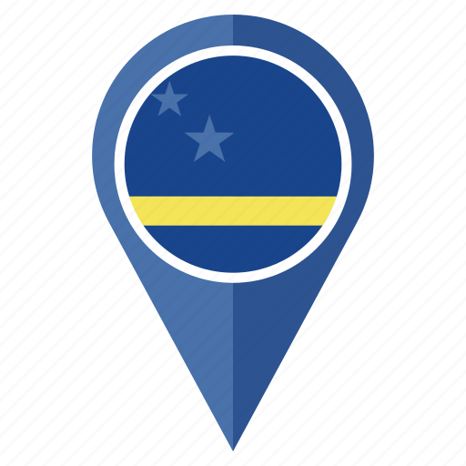 country, curacao, flag, location, national, navigation, pin icon