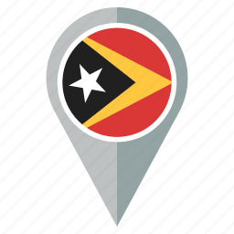 country, east timor, flag, location, nation, navigation icon