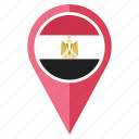 country, egypt, flag, location, national, navigation, pin icon