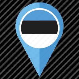 country, estonia, flag, location, national, navigation, pin icon