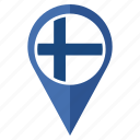 country, finland, flag, location, nation, navigation icon