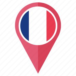 country, flag, france, location, navigation, pin icon