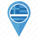 country, flag, greece, location, nation, national, navigation icon