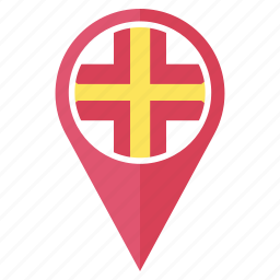 country, flag, guernsey, location, national, navigation, pin icon